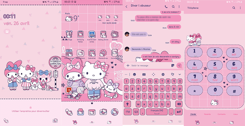 free download hello kitty themes for samsung galaxy y